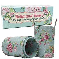 Makeup Brush Holder By Bella and Bear. Our Makeup Cup Holder Is A Perfect Companion To Your Kitten Makeup Brushes And Individual Brushes. Makes A Perfect Xmas Gift. Luxury Cosmetics, Makeup Cosmetics, Bear Makeup, Makeup Brush Holders, Beauty Awards, Beauty Magazine, Makeup Brushes, Gift Guide, Floral