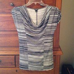 Ann Taylor tank Black stripped Ann Taylor blouse. Ann Taylor Tops Blouses