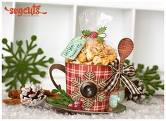 How can you make a yummy treat even better? Give it in a stylish way like this adorable mug I've created! It's sure to bring some holiday cheer!