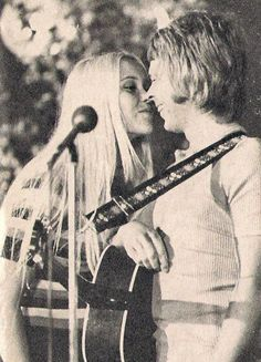 "Anna and Bjorn on a folkpark gig  in 1971. ""People Need Love"""