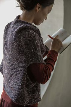 Jurgenlehl etc, Jurgen Lehl and Babaghuri Official blog | Knitted Vest Made of Alpaca Wool