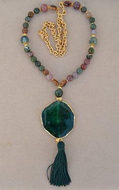 bd0f7be39d52 Collar de piedras naturales   AGATA INDIA de vithrashop en Etsy  bisuteria   bisuterias  bisuteriafina  colombia  colombiabisuteria