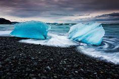 Jökulsarlón, Breiðamerkursandur, Iceland, via Flickr.