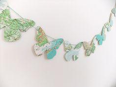 Butterflies from map - love, love, love!!