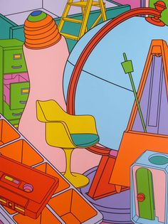Find the latest shows, biography, and artworks for sale by Michael Craig-Martin. Conceptual artist Michael Craig-Martin—who taught Damien Hirst, Gary Hume, a… Art Doodle, Michael Craig, Still Life Artists, Memento, Manchester Art, Ligne Claire, A Level Art, Collage, Arte Popular