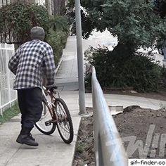 Insane downhill bait bike in the hood