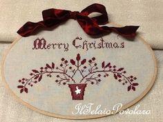 #Merry Christmas '' lo schema free di Cuore e Batticuore ... ricamato in rosso cupo o in avorio ??