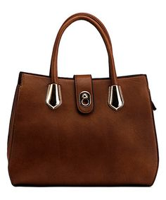 Another great find on #zulily! Brown Keyhole Satchel #zulilyfinds