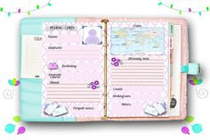 Filofax A5 size penpal inserts 2 pages insert pages by Sorocashop