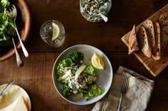 Peter Miller& Lentils Folded into Yogurt, Spinach, and Basil Recipe on Vegetarian Dinners, Vegetarian Recipes, Cooking Recipes, Healthy Recipes, Veg Recipes, Basil Recipes, Salad Recipes, Make Ahead Salads, Food 52