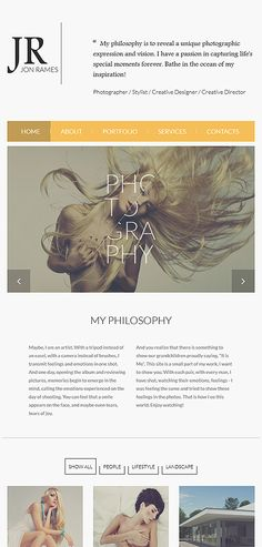 Photography web template by espresso templates