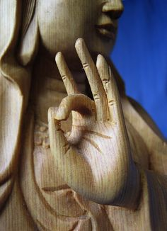 The symbolic hand gestures of Buddha are called mudras. A statue of the Buddha holds his hands just so and his devotees are supposed to remember a certain teaching. the Buddhist mudras are didactic; they are hand gestures designed to convey a message.