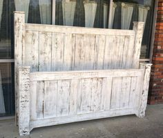 Reclaimed wood furniture/solid wood bed/rustic furniture/bed frame/bedroom furniture/furniture/wood bed frame/headboard/poster bed/panel bed