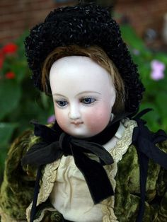 "Antique Bru French Fashion doll 13"" round face swivel head kid body orig clothes 