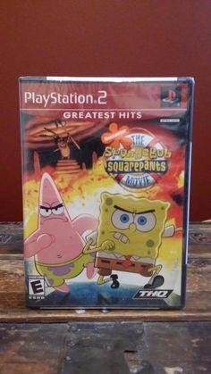 New Sealed Playstation 2 PS2 Greatest Hits Spongebob Squarepants Movie Game
