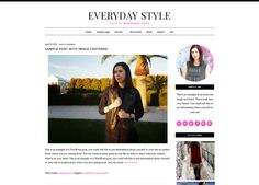 Everyday Style - A WordPress Theme by Beautiful Dawn Designs on Creative Market