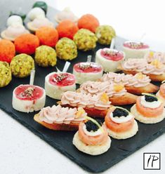 Mouthwatering cold canapes from Bertrand Munier are guaranteed to set the mood for your event. Choose from a variety of delicious cold canapes for you party and get them delivered to your doorstep. Party Food Delivery, Bruschetta, Canapes Catering, Grapes And Cheese, Tapas, Munier, Christmas Biscuits, Mini Burgers, Personal Chef