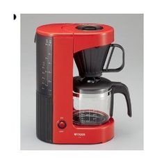 TIGER ACXA060RH Red Cafe coffee maker for 6 cups ** You can get more details by clicking on the image.