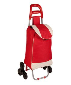 Love this Red Three-Wheel Rolling Knapsack Cart by Honey-Can-Do on #zulily! #zulilyfinds
