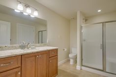 Second/guest bath. Designed and built by Quail Homes of Vancouver Washington.