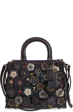 de9a8da154 COACH 1941 Rogue 25 Tea Rose Appliqué Leather Satchel.  coach1941  bags   leather  hand bags  satchel