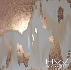 Rose Gold Touch 48x48 original abstract painting on high quality, 1.5 in thick, gallery wrapped canvas by HLWDesignShop on Etsy