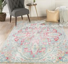 New Findley Oriental Power Loom Blue Pink Area Rug by Bungalow Rose Rugs Home Decor Furniture. offers on top store White Area Rug, Beige Area Rugs, Contemporary Area Rugs, Floor Decor, Rug Size, Power Loom, Bungalow, Living Spaces, Living Room