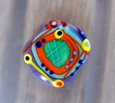Free Colors - 1 free shaped lampwork bead - Modern Glass Art by Michou P. Anderson by michoudesign on Etsy
