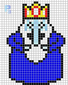 Ice King Adventure Time perler pattern - Patrones Beads / Plantillas para Hama