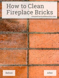 Clean Soot from Brick | Bricks, Cleaning and Cleaning brick