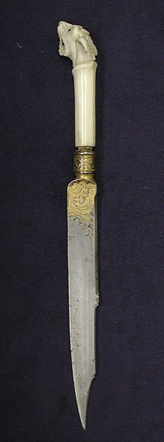 Table knife Date: 16th century Culture: possibly Italian Medium: Steel Dimensions: L. 8 in. (20.3 cm)