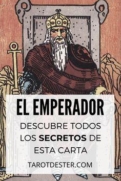 El Emperador es una de las cartas de Tarot más importantes. Es el II Arcano Mayor. Descubre todos los secretos y significados pulsando la imagen. Tarot Significado, Ayurveda, Altar, Comic Books, Tarot Cards, Tarot Spreads, Witch Bottles, Hipster Stuff, Book Storage