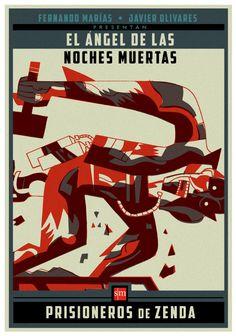 "Poster for ""Prisioneros de Zenda"" book advertising."
