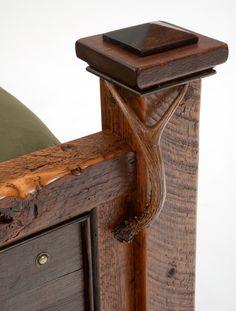 Barnwood Furniture with antler