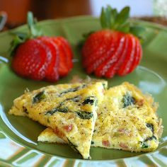 Baby Spinach and Pancetta Frittata