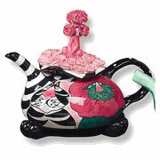 Poodle & Kitty Whimsical Teapot - Ceramic Teapots, I Cup, Vintage Cat, My Cup Of Tea, Poodles, High Tea, Trinket Boxes, Sorting, Tea Time