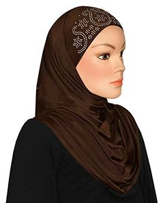 Al Amira 1 piece Aiyah Hijab Ultra Silky Lycra Brown * Read more reviews of the product by visiting the link on the image.