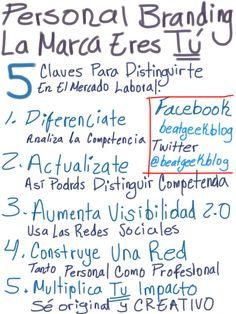 #MarcaPersonal: 5 claus per distingir-te. De @beatgeekblog