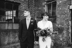 industrial winter wedding, stone fox bride