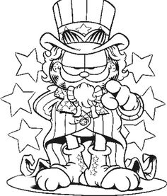Garfield Superstar Coloring Page
