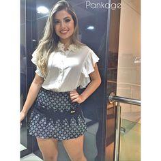 Blusa bordada e short saia detalhado. Mais nossa carinha, impossível! ❤️ #newin #shortsaia #blouse #lovedetails #pankage16 #ootn