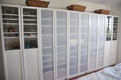 Billy bookcases as closet