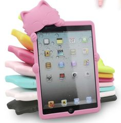 Lovely 3D Hello Deere Kitty Soft Silicone Carrying Case for iPad Mini - Cute Silicone iPad Mini Cases - iPad Mini Cases - iPad Cases