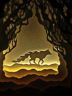 by Harikarishnan Panicker & Deepti Nair. [Illuminated Cut Paper Light Boxes]