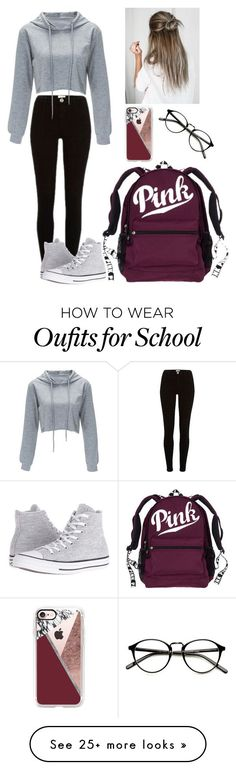 """School #11"" by radickerson85 on Polyvore featuring Converse and Casetify"