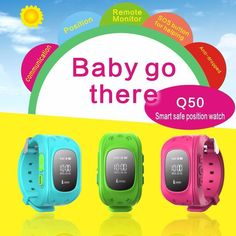 Smart Phone Watch Children Kid Wristwatch GPS Tracker Smart Watchs Anti-Lost Q50 Smartwatch Wearable Devices for iOS Android Q50