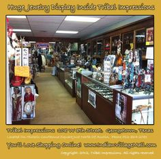 Huge Jewelry Displays inside Tribal Impressions. Shop online off of:  http://www.indianvillagemall.com