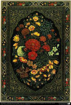 "Islamic Art -Tahzib Persian Style ""Gol-o Morgh"" -Flower and Bird - 09"
