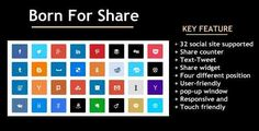 Born For Share . Using born for share plugin any wordpress site.Every website author want to use social share buttons.born for share made for them.born for share is ideal choice for start to create custom social share buttons and share counters.You can set share button 5 different position by this plugin. born for