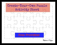 Celebrate National Puzzle Day with a free puzzle-themed printable!